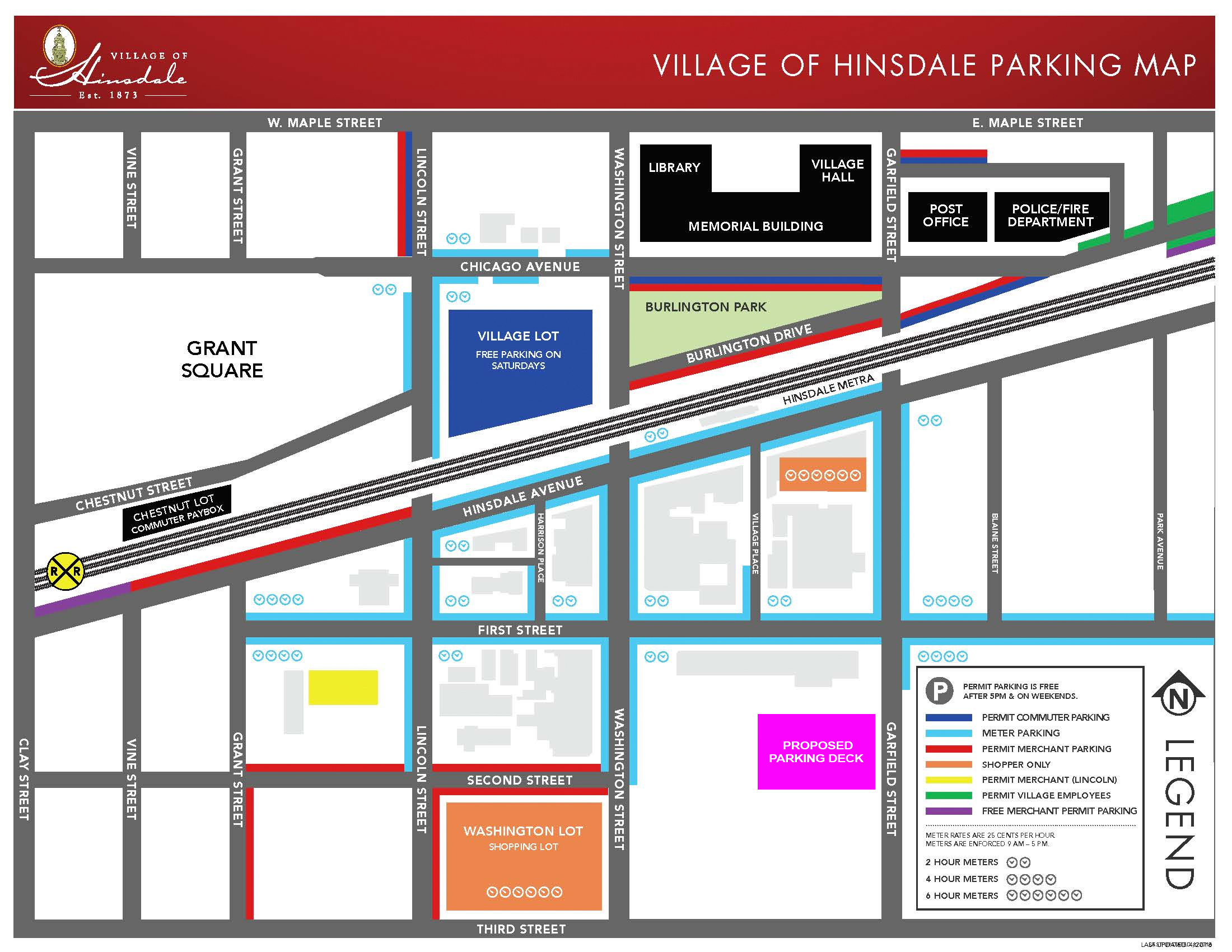 Hinsdale Parking Map
